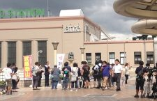 上野ペデストリアンデッキでテレビ朝日「民王」の撮影が行われました!